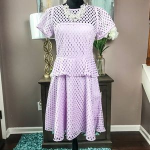 Banana Republic Lavender Eyelet Dress